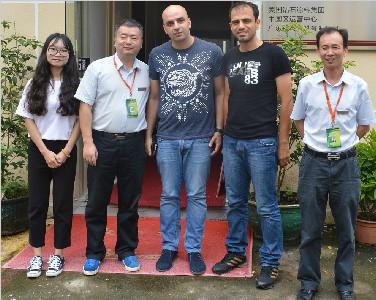欢迎伊朗客户莅临美国钻石涂料中国运营中心进行合作考察
