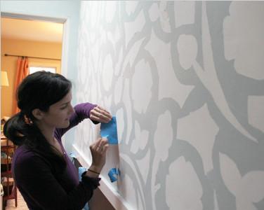 Painter's Tape Wall Design 画家的艺术墙设计