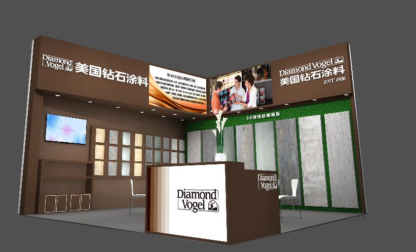 美国钻石涂料携原装进口艺术涂料与您相约2018上海建博会
