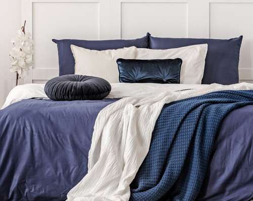 Blissful Blues Bed Inspiration