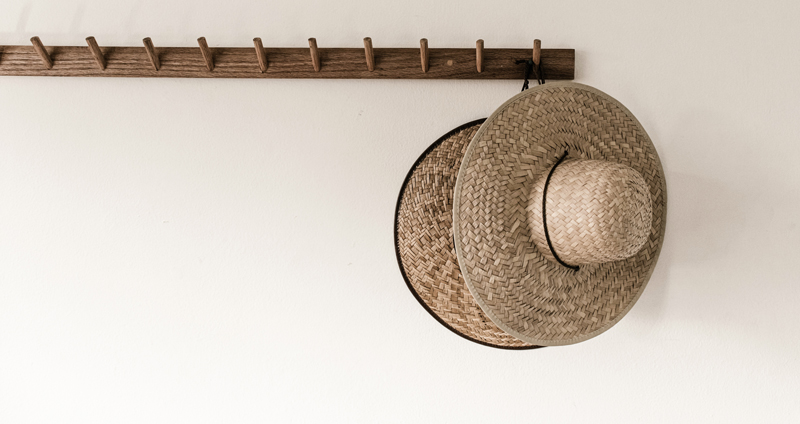 Natural Whites Hat Rack Inspiration