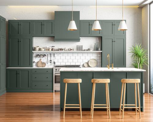 Green Column kitchen
